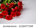 Stock photo red roses on a white background happy valentines concept 1226077189