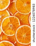 dried orange slices  chips ... | Shutterstock . vector #1226078983