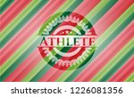 athlete christmas colors style...   Shutterstock .eps vector #1226081356