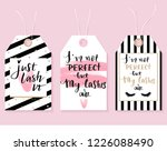 vector fashion tags with lashes ... | Shutterstock .eps vector #1226088490