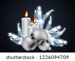 christmas candles and balls on... | Shutterstock .eps vector #1226094709