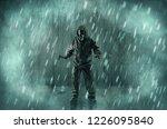 dreadful dangerous man with...   Shutterstock . vector #1226095840
