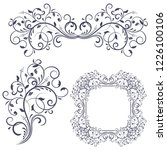 floral decorative frame and...   Shutterstock . vector #1226100106