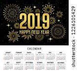 calendar happy new year 2019... | Shutterstock .eps vector #1226101429