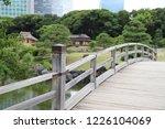 closeup of vintage wooden... | Shutterstock . vector #1226104069