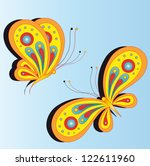 Stock vector butterfly design 122611960