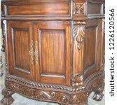 antique brown mahogany cabinet | Shutterstock . vector #1226120566