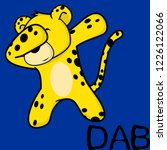 dab dabbing pose leopard kid... | Shutterstock .eps vector #1226122066