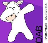dab dabbing pose goat kid... | Shutterstock .eps vector #1226123416