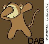 dab dabbing pose monkey kid... | Shutterstock .eps vector #1226123719