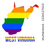 west virginia state map in lgbt ... | Shutterstock .eps vector #1226127613