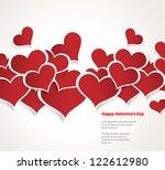 design template   eps10 heart... | Shutterstock .eps vector #122612980
