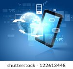 social network  communication... | Shutterstock . vector #122613448