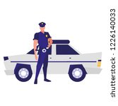 police car icon | Shutterstock .eps vector #1226140033