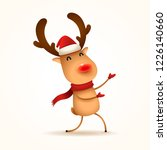 the red nosed reindeer greets.... | Shutterstock .eps vector #1226140660