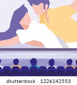movie theatre design | Shutterstock .eps vector #1226142553