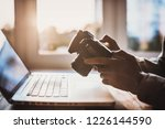 photographer working with... | Shutterstock . vector #1226144590