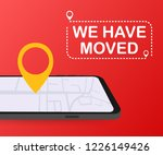 we have moved. moving office... | Shutterstock .eps vector #1226149426
