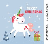 cute unicorn character... | Shutterstock .eps vector #1226158426