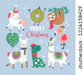 christmas holiday cute elements ... | Shutterstock .eps vector #1226158429
