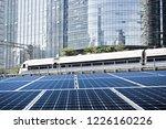 solar panels cities | Shutterstock . vector #1226160226