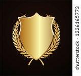golden shield retro design | Shutterstock .eps vector #1226165773