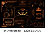 vintage vector ornaments... | Shutterstock .eps vector #1226181409
