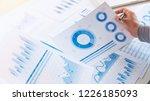 businessman working data... | Shutterstock . vector #1226185093