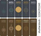 vector set of ornamental tags... | Shutterstock .eps vector #1226192260