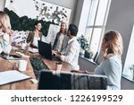 passionate about their project. ... | Shutterstock . vector #1226199529