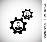 team collaboration gears on... | Shutterstock .eps vector #1226200666