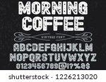 font alphabet vector named... | Shutterstock .eps vector #1226213020
