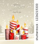 group of christmas candles in... | Shutterstock .eps vector #1226215333