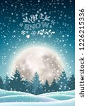 christmas winter snowy... | Shutterstock .eps vector #1226215336
