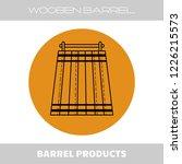 wooden barrel for beer  water...   Shutterstock .eps vector #1226215573
