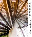 wooden and metal observation...   Shutterstock . vector #1226222296