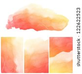 set of colorful abstract water... | Shutterstock . vector #122622523