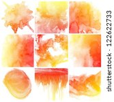 set of colorful abstract water... | Shutterstock . vector #122622733