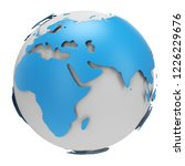 blue and white earth globe... | Shutterstock . vector #1226229676