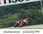 Small photo of SEPANG, MALAYSIA - NOVEMBER 3, 2018: Spanish Honda rider Marc Marquez wins at SHELL MotoGP of Malaysia