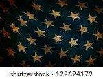 grunge background with stars | Shutterstock . vector #122624179