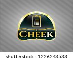 gold shiny badge with list... | Shutterstock .eps vector #1226243533