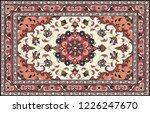 persian carpet  tribal vector... | Shutterstock .eps vector #1226247670