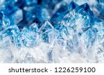 blue crystal mineral stone | Shutterstock . vector #1226259100