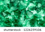 green crystal mineral stone.... | Shutterstock . vector #1226259106