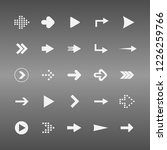 arrow icon set of arrows | Shutterstock .eps vector #1226259766