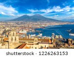Napoli  Naples  And Mount...