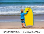 happy baby boy   young surfer... | Shutterstock . vector #1226266969