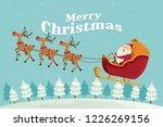 merry christmas  santa claus...   Shutterstock .eps vector #1226269156