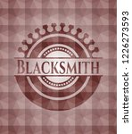 blacksmith red seamless emblem... | Shutterstock .eps vector #1226273593